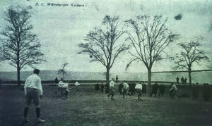Bild von 1908 am Kugelfang. Am 5.4.1908 wurde hier das erste Derby gegen den mittlerweile insolventen WF*04 mit 5:0 gewonnen